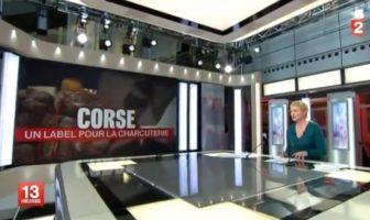 La Charcuterie de Corse AOC au 13H de France 2
